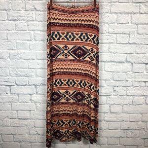Living Doll LA maxi skirt Aztec design